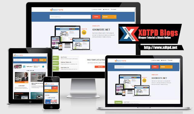 GOOMSITE PRO AMP HTML Responsive Blogger Template