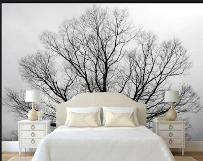 Inspirasi Desain Kamar Tidur  Dengan Nuansa Pepohonan Yang Adem Dan Asri 8