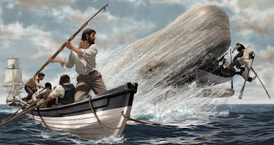 captain ahab portrayed monomaniacal moby dick Trying to fathom captain ahab, the complex antihero of herman melville's moby-dick, only in relation to his scriptural namesake would be as futile as was his own quest to vanquish the white whale.