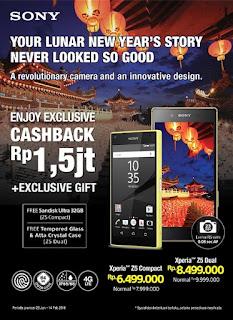 Promo Imlek Sony Cashback Rp 1.5 Juta + Exclusive Gifts di Erafone