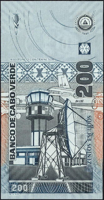 Cape Verde 200 Escudos banknote 2005 Aviation