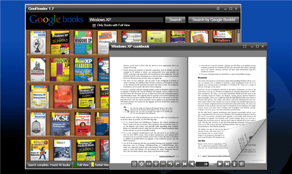 برنامج GooReader - مكتبتك الضخمة على سطح المكتبك