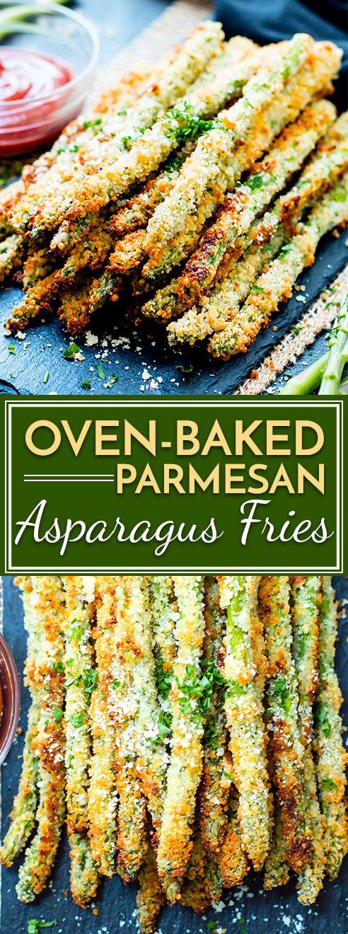 Oven Baked Parmesan Asparagus Fries