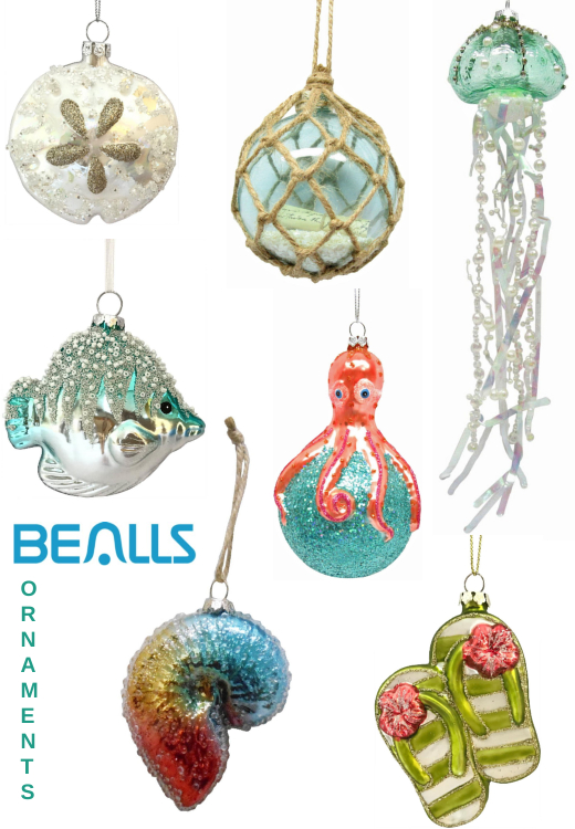 Coastal Beach Ornaments