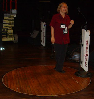 circle in grand ole opry stage