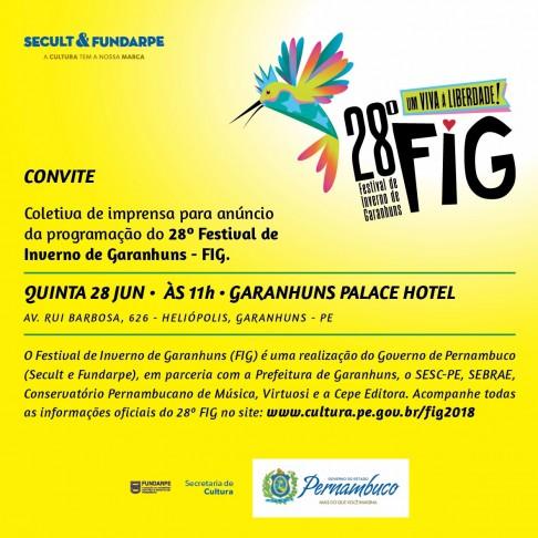 LIBERDADE SERÁ O TEMA DO 28º FESTIVAL DE INVERNO DE GARANHUNS a2788979fdf