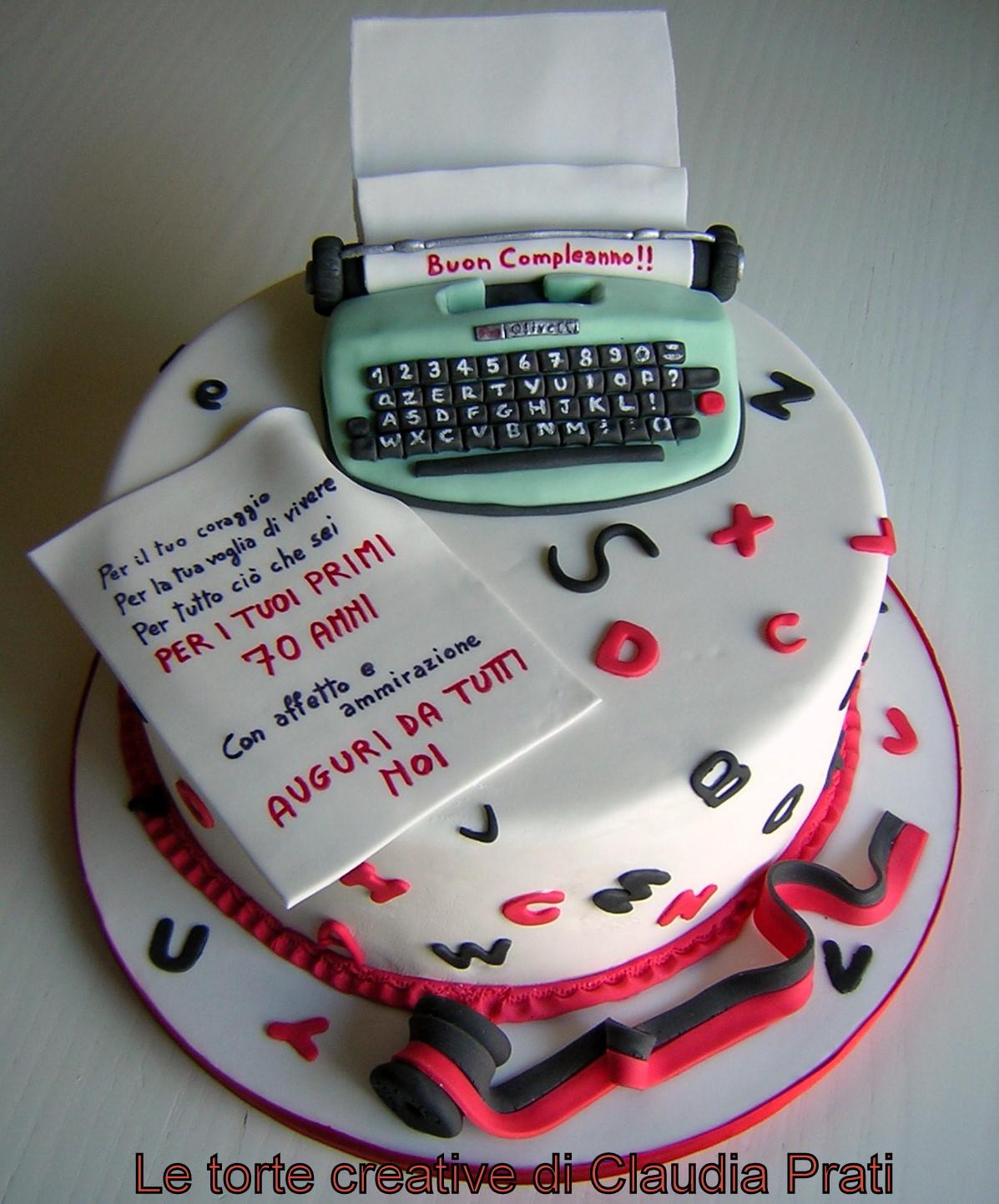 Le Torte Creative Di Claudia Prati 70 Anni Per Un Giornalista