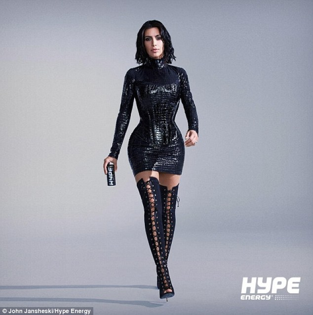 Kim Kardashian shows off curves and tiny waist for 'Hype' photoshoot