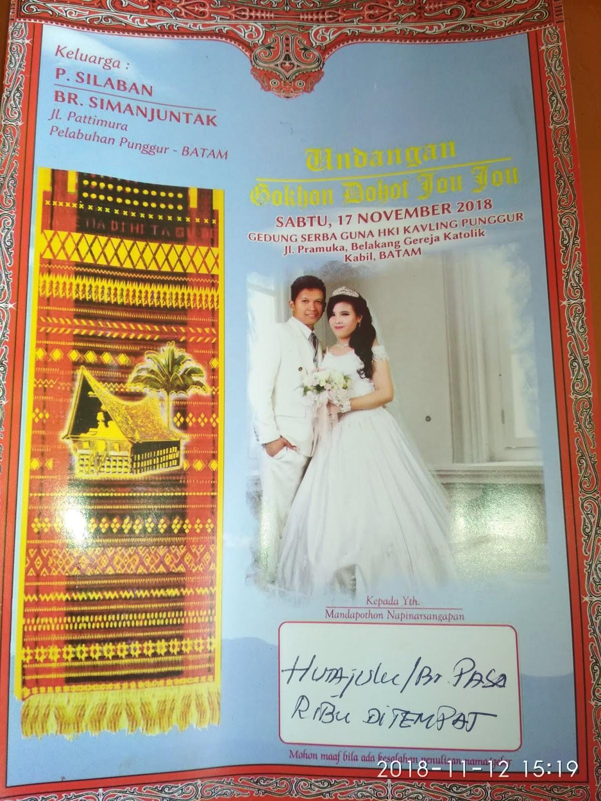 Contoh Isi Surat Undangan Pernikahan Versi Bahasa Batak Dan Bagian