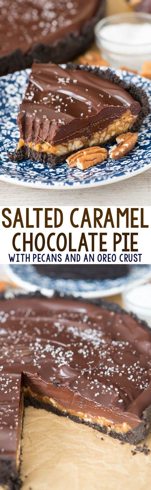 SALTED CARAMEL PECAN CHOCOLATE PIE #Saltedchoco #Caramel #Pecan #chocolate #Chcopie #Bestchocopie #Dessert #bestdessert