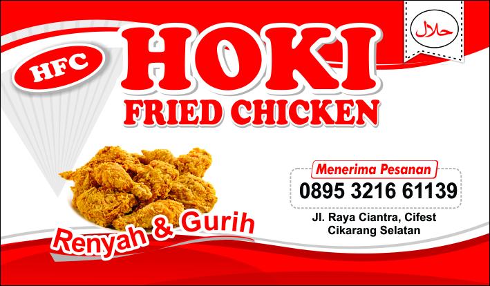 Contoh Gambar Banner Fried Chicken - desain banner kekinian