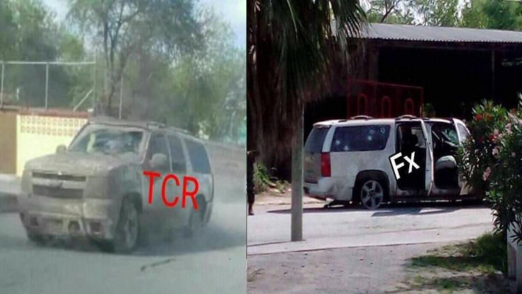 Video y Fotos, Asi es como SEDENA en persecución revientan suburban blindada del CDG en Río Bravo, Tamaulipas