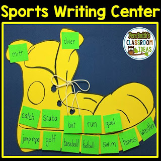 Fern Smith's Classroom Ideas Sports Writing Center Ideas and An Amazing $100 Teacher Giveaway with Teach123!