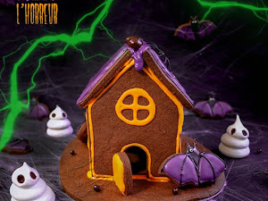 Maison de l'horreur en biscuits pour Halloween !