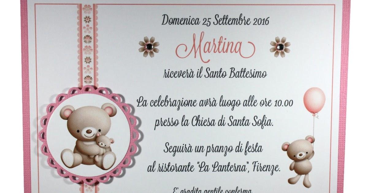 Bien connu My Sweet Blog: Invito Battesimo con orsetti NM47