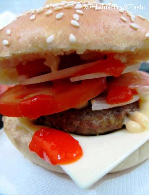 resep burger daging sapi keju dan sayuran just try amp taste