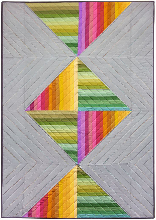 Spectrum Candy Quilt Free Pattern designed by Liberty Worth of Libby Dibby for Robert Kaufman Fabrics, Featuring Skinny Strip Friendly Fabrics