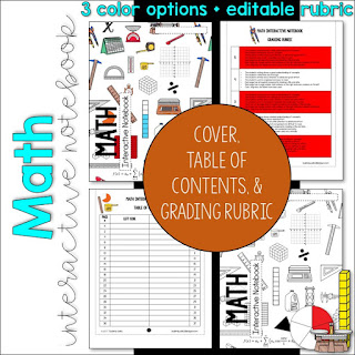 https://www.teacherspayteachers.com/Product/MATH-Interactive-Notebook-Cover-Grading-Rubric-and-Table-of-Contents-3173407