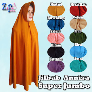 Jilbab Syar'i Annisa Super Jumbo Terbaru Harga Murah