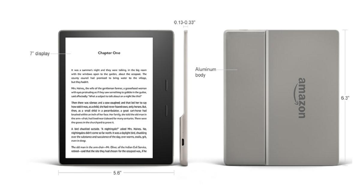 Wododporny Kindle Oasis 3 z aluminiową obudową i regulacją barwy podświetlenia