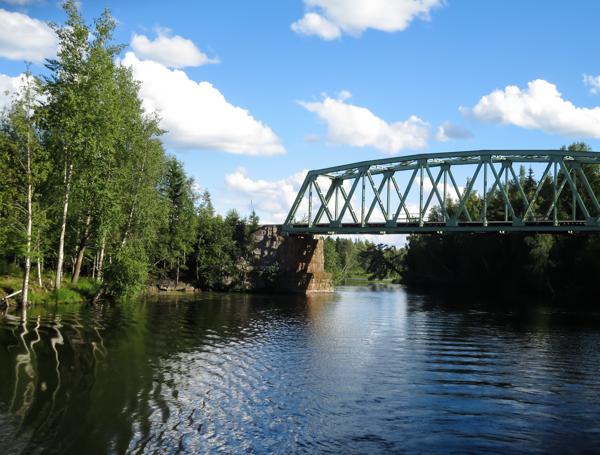 iisalmi vanha rautatiesilta  iisalmen historia koljonvirran taistelu suomen sota koljonvirta