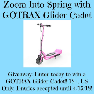 Enter the GOTRAX Giveaway. Ends 4/15. Open US Only.