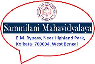 Sammilani Mahavidyalaya, Baghajatin, E.M. Bypass, Near Highland Park, Kolkata- 700094, West Bengal