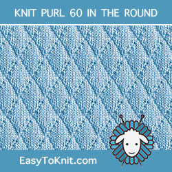Diamond Knit Purl, easy to knit in the round