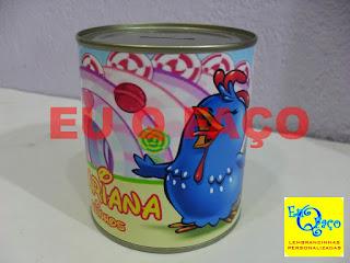 Cofrinho Galinha Pintadinha, lembrancinha galinha pintadinha, brinde galinha pintadinha, tema galinha pintadinha, festa galinha pintadinha