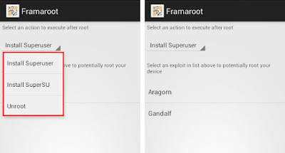 root android mobile through Framaroot application