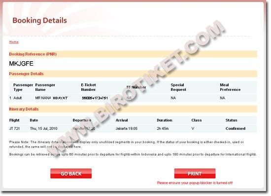 Tiket Pesawat Harga Agen Cara Print Tiket Lion Air