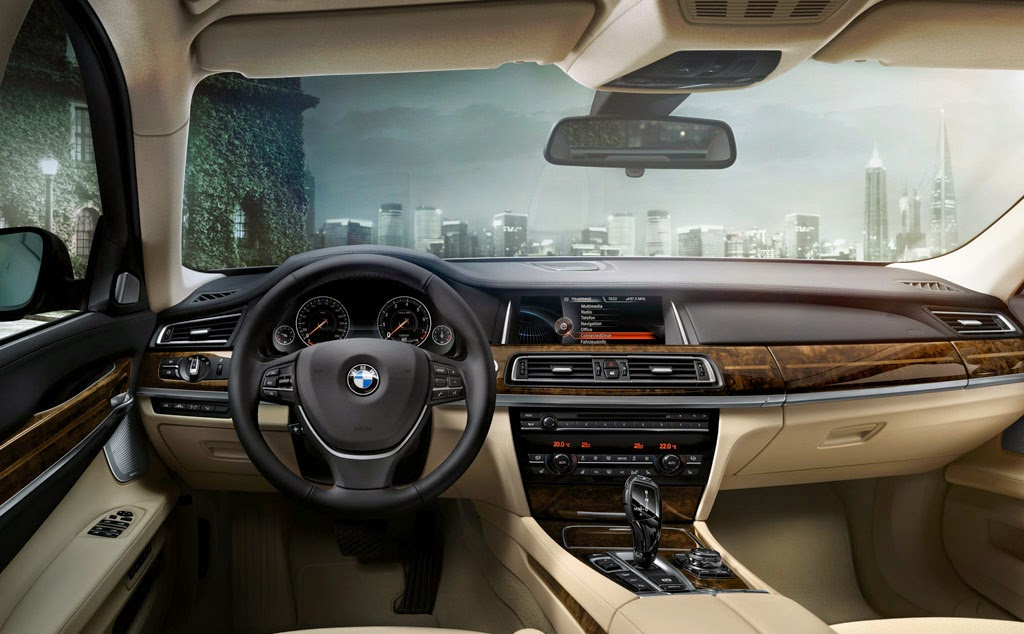 BMW 7 Series Interior and Front HD Wallpapers