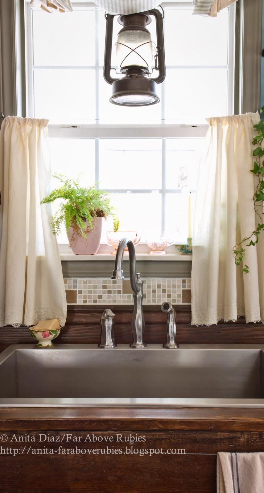 Muslin And Lace Sink Skirt Cafe Curtains