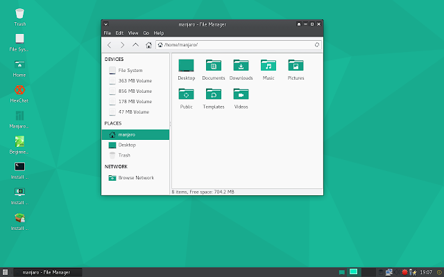 File manager in Manjaro
