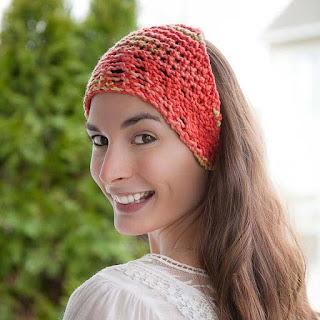Loom Knit Bandanna Headwrap Scarf Free Pattern