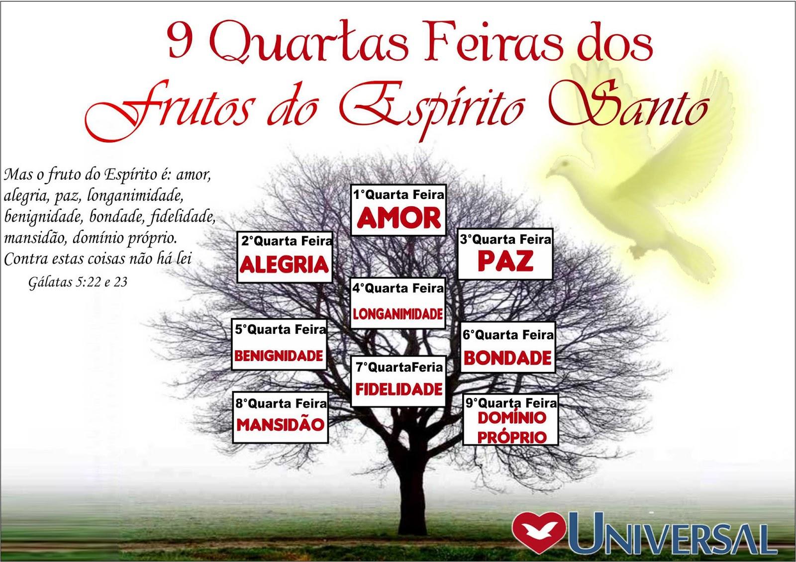 Frases FJU-PA: CARTELA 9 QUARTA-FEIRA DOS FRUTOS DO