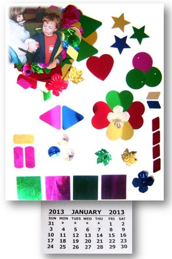 Make Your Own Calendar Art And Craft : Rainbow creations art and craft for children