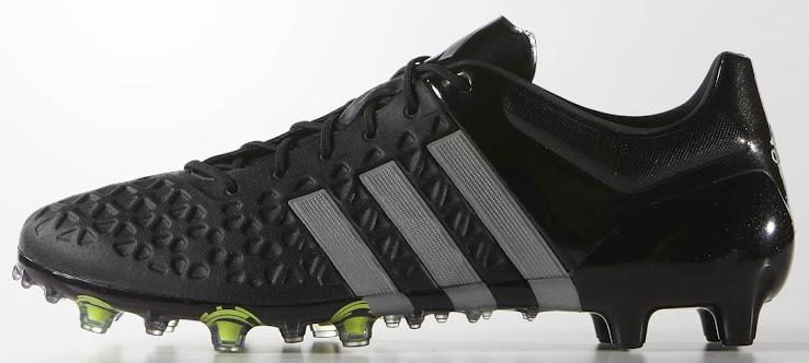 Schwarze reflektierende Adidas Ace 2015 Fußballschuhe