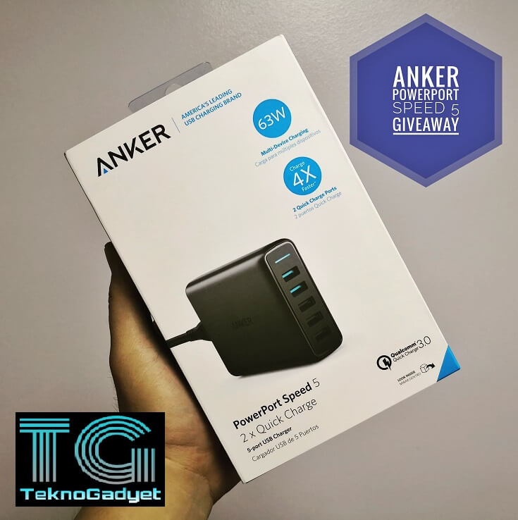Anker PowerPort Speed 5 Giveaway