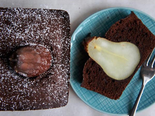 REZEPT: glutenfreier Schoko-Birnen-Kuchen