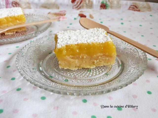 Carrés au citron - Dans la cuisine d'Hilary