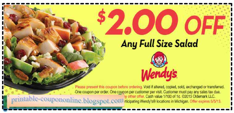 Wendy coupons ontario 2018