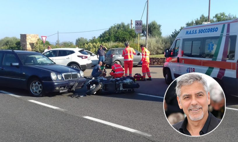 George Clooney: incidente in moto e ospedale in Sardegna.