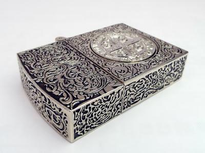コンスタンティン Zippo ライター ムービーサイズ 6面彫り 銀色 DSCF6054