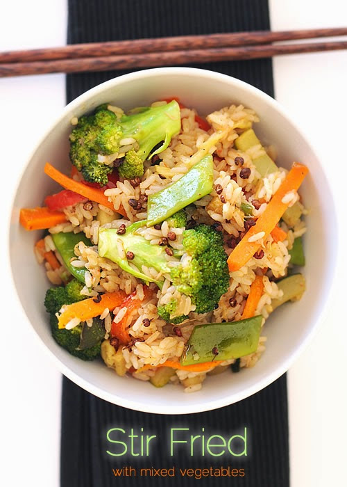 Mix Vegetable Stir Fry with rice ~ fiordizucca - cibo, ricette, viaggi, travel, recipes, food, italian and international