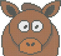 Cartoon Pony pattern preview. Free cross-stitch patterns