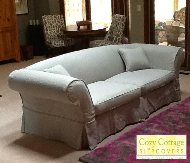 Long Sofa Pet Cover Lacrosse Sleeper Cozy Cottage Slipcovers: Linen Slipcover