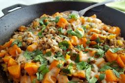 Ground Turkey Sweet Potato Skillet #vegan #recipe