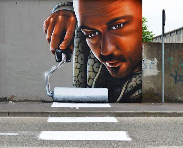 Arte interactivo en las calles de Italia