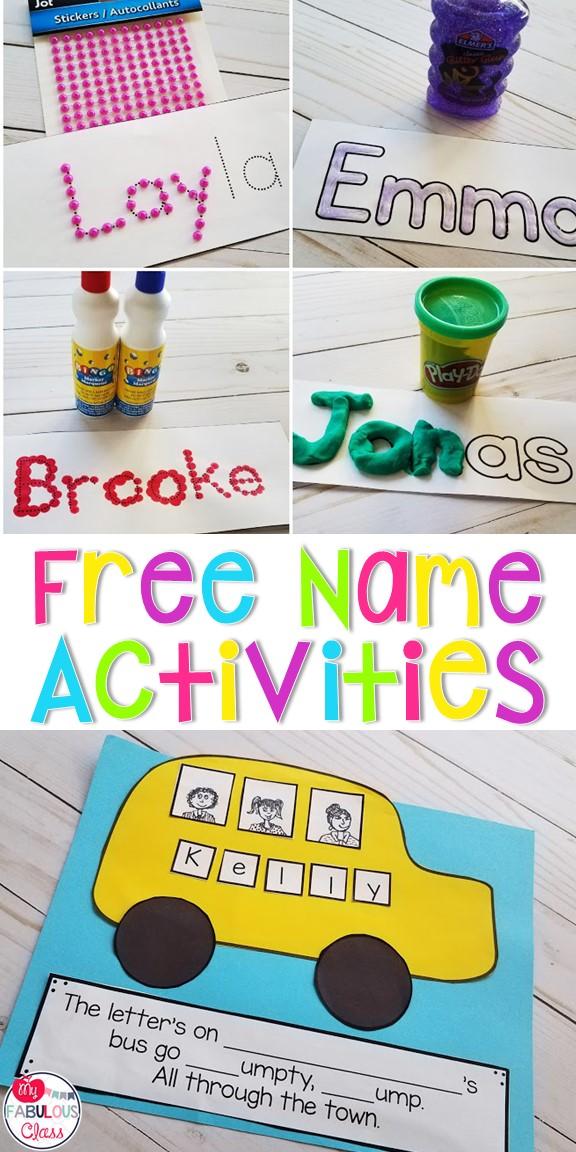 My Fabulous Class: Free Name Activities